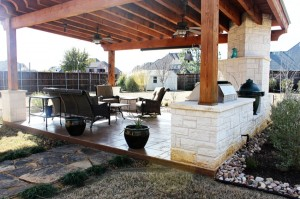 Covered Outdoor Living Area – Denton, Texas