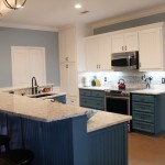 kitchen island and counters