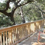 oak point deck railing