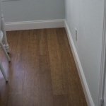 A closer look at the bamboo flooring — what a gorgeous dark wood!