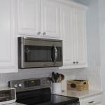 More white quartz countertops — you didn't think we'd just do the island, did you?