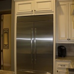 No farmhouse kitchen would be complete without a french door refrigerator! This one's got room for all the fixins.
