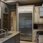Cabinets, cabinets everywhere! There's no shortage of storage in this kitchen.